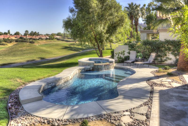 New pool and spa and view of 8th fairway. - 3BD Villa on PGA West Nicklaus Private Golf Course - La Quinta - rentals