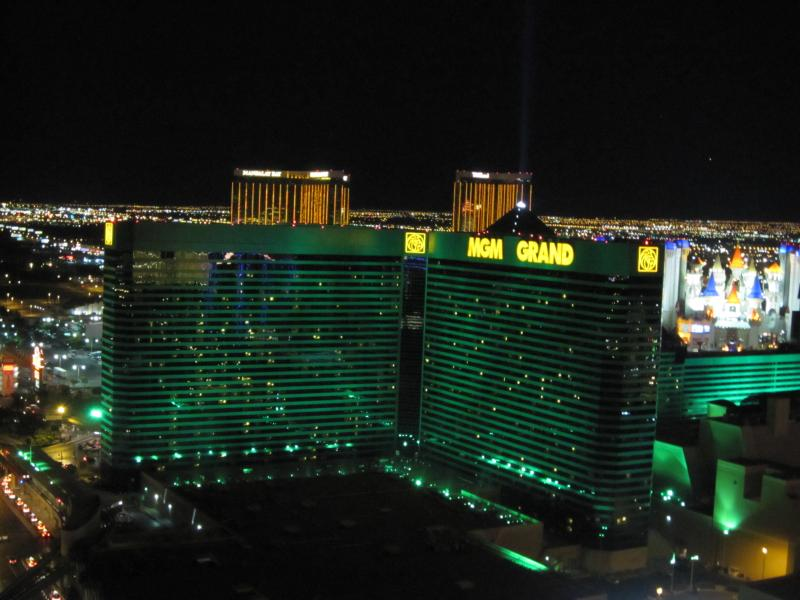 Stunning view of the Las Vegas strip from our Penthouse - MGM 2BR Penthouse Right On Strip w/View & Balcony! - Las Vegas - rentals