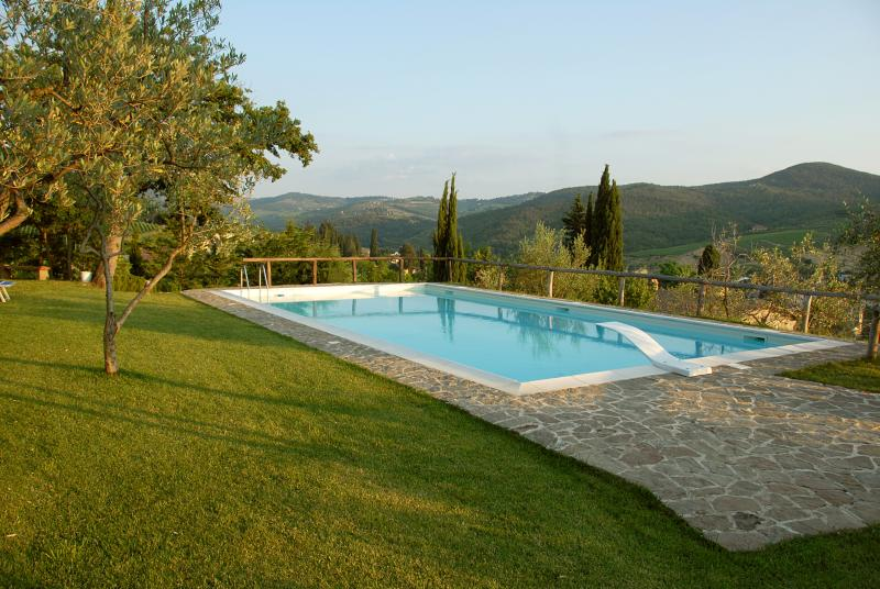 salt water pool - Podere Campriano family winery - Greve in Chianti - rentals