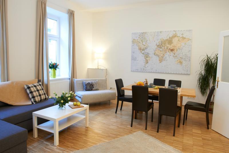 Apartment Naschmarkt premium: living room - Viennaflat Naschmarkt apartments: 4 flats, central - Vienna - rentals