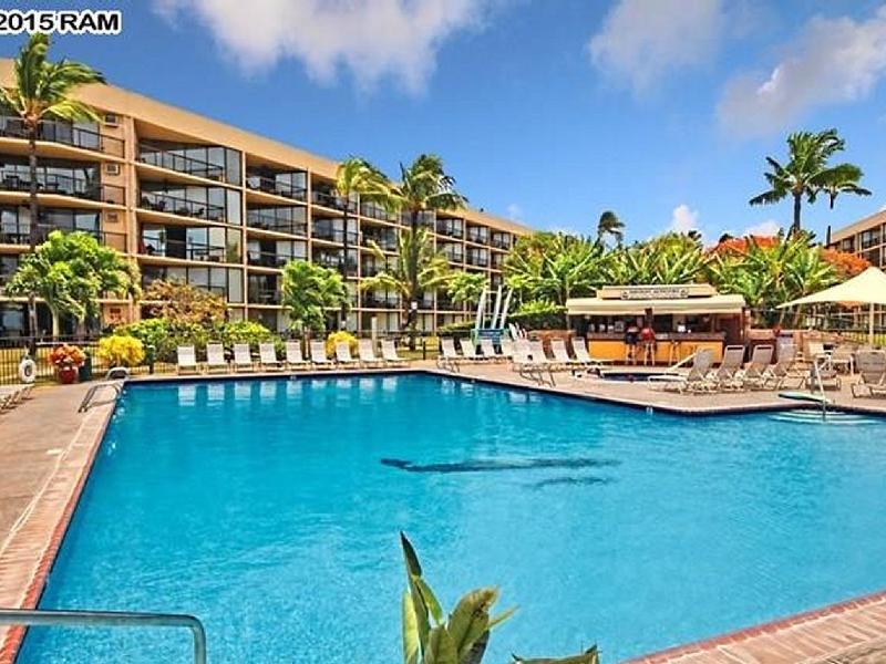 Large Pool & Hot Tub - Maui Sunset Ocean View Kihei Condo Maui Hawaii - Kihei - rentals