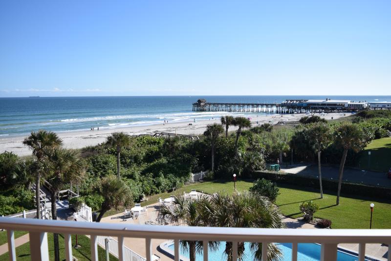 The view from your balcony of the ocean & pier! - ** Direct Oceanfront Penthouse ** Next to Pier! - Cocoa Beach - rentals
