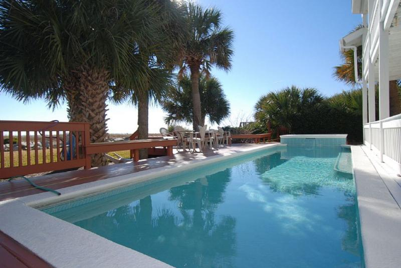 Pool - FREE POOL HEAT & 6 BIKES!* Direct Oceanfront Home, Private Pool/Spa, 4 Block Stroll to Coligny Plaza - Hilton Head - rentals