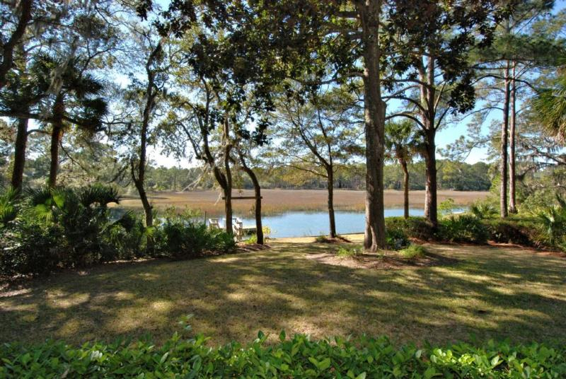 View from Back - Private Dock, Pool and Spa, Tidal Views, Situated in Sea Pines Plantation - Hilton Head - rentals
