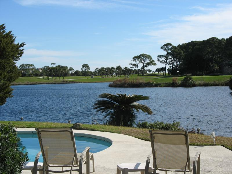 Relax and enjoy the view (Robert Trent Jones course in the background) - Palmetto Dunes Paradise - Hilton Head - rentals
