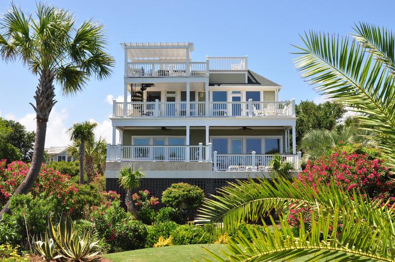 Rear Exterior - Best of the Best! 6bd, 6.5ba, Elegant, Ocean Front - Isle of Palms - rentals