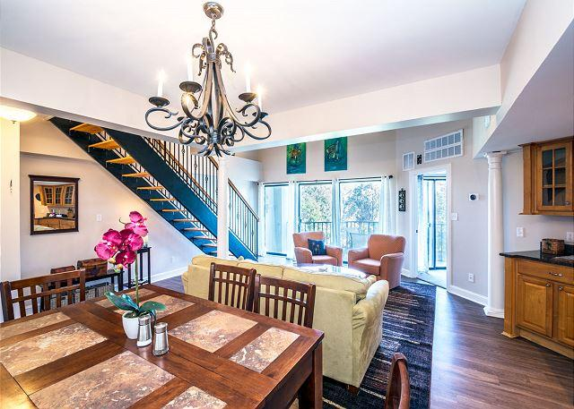 Meal Time! - Forest Beach Villa 411, 2 Bedrooms, Tennis & Pool Views, Sleeps 9 - Hilton Head - rentals