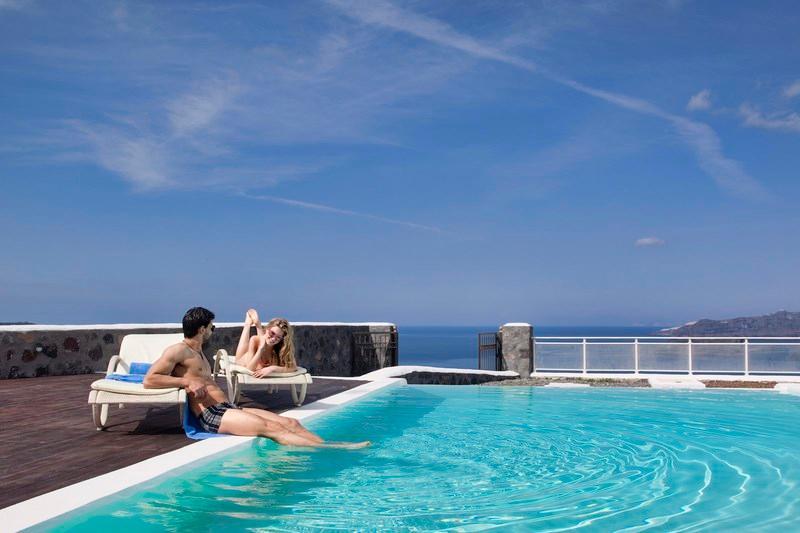 Pool - Blue Villas | Persephone |Elegant Villa - Megalochori - rentals