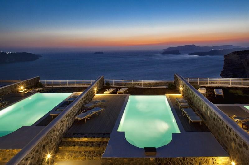 Outdoor pool - Blue Villas | Hestia| Luxurious sunsetviews - Megalochori - rentals