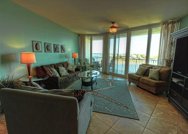 Livingroom - Caribe D408 - August and September 2016 Openings - End of Summer Deals - Orange Beach - rentals