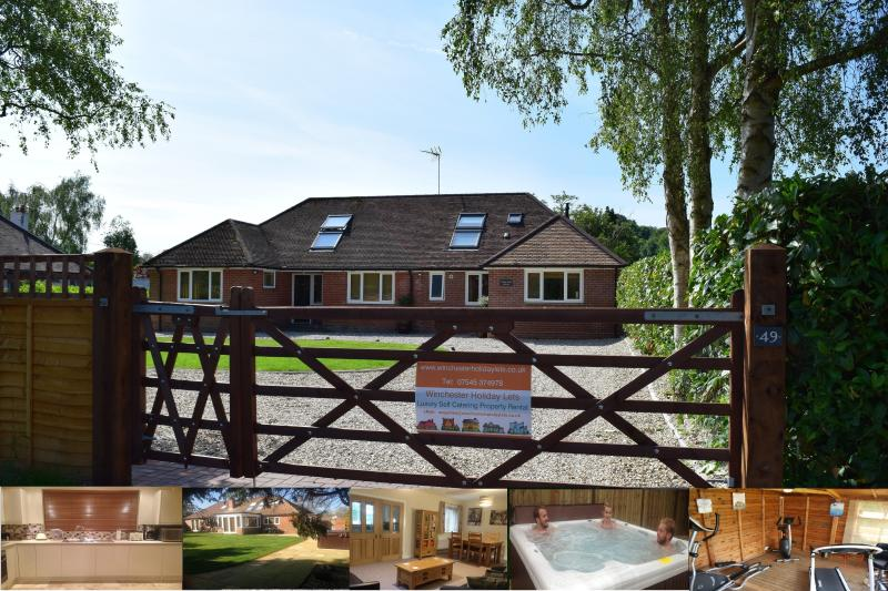 Weeke End Annexe: hot tub, gym, table tennis, swing ball, BBQ, secluded gardens and off road parking - Weeke End Annexe - Winchester Holiday Lets - Winchester - rentals