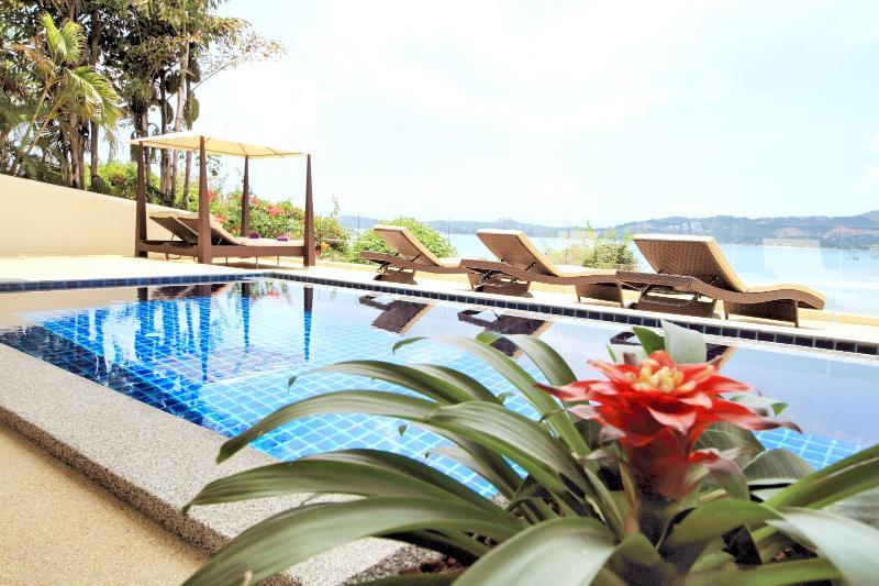 "Pool and Terrace overlooks Bang Rak Bay - 11 Sabai Thani. ""Oceans Eleven""  Bophut. - Bophut - rentals"