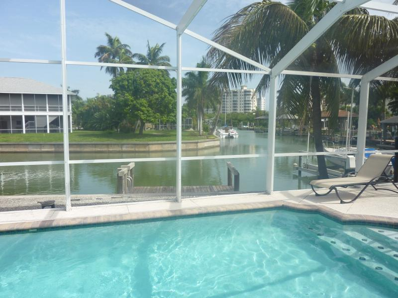 Relax by the pool - ***May Special, Beautiful Waterfront Home with Private Pool and Dock*** - Fort Myers Beach - rentals