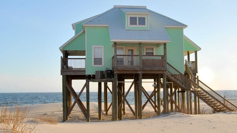 Strand Castle- Large Gulf-Front home with Game Room and Private, Heated Pool - Image 1 - Dauphin Island - rentals