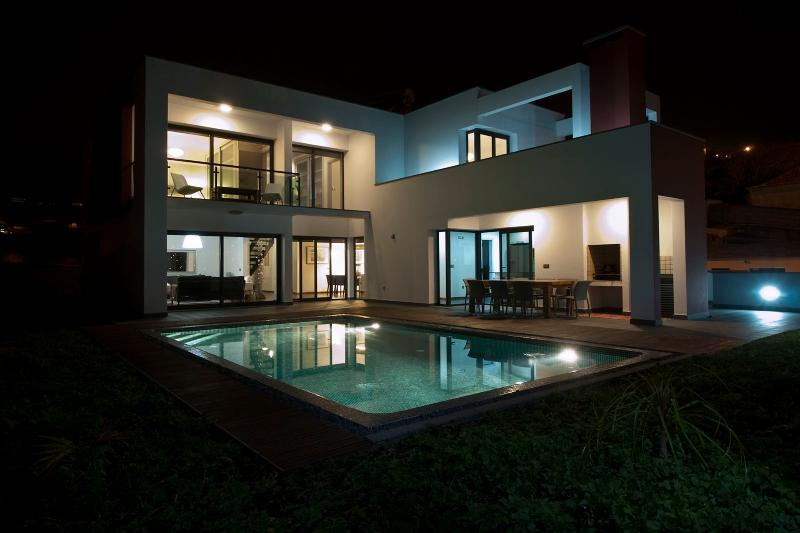 Villa at night - a swim or dining outside? - Luxury Villa with heated pool for up to 8 people - Ponta Do Sol - rentals