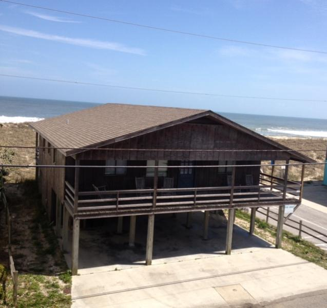 Outside before renovations - Richard Gere and Diane Lane Oceanfront Movie Set - Carolina Beach - rentals