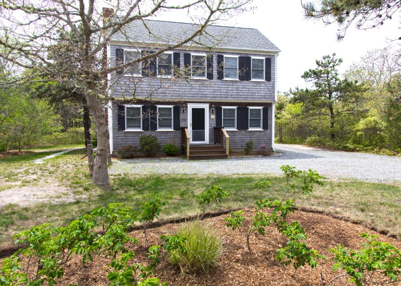 Front of House - BONES - Katama AREA,  Spacious Deck,  Bike Paths to Beach and Town at Entrance to Edgartown Estates - Edgartown - rentals
