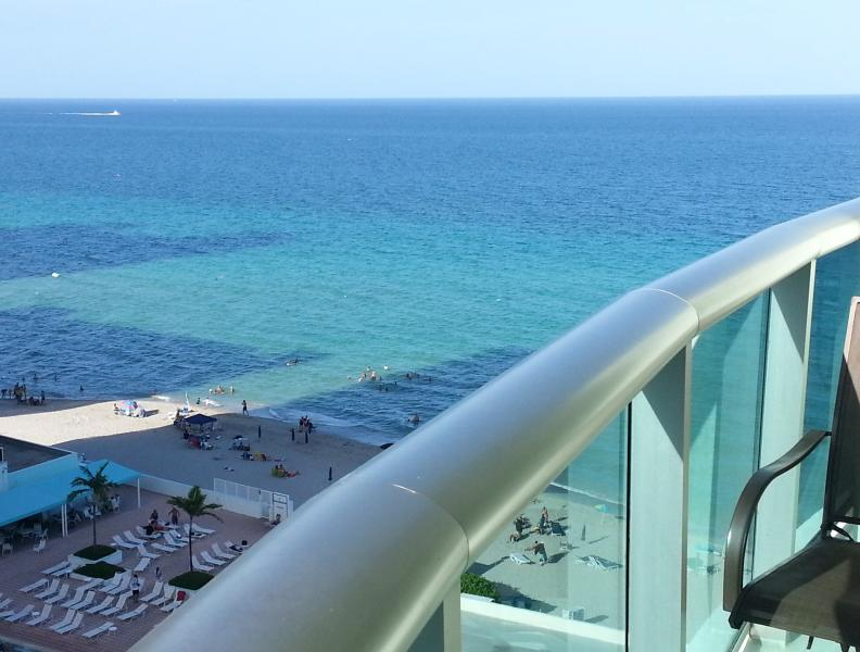 Balcony view - The TIDES, Ocean view balcony, Affordable luxury - Hollywood - rentals