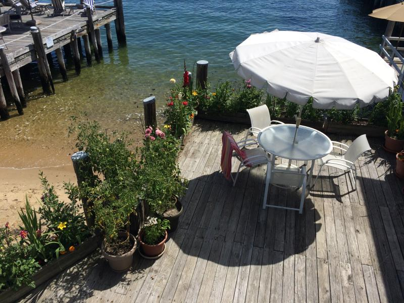 View looking down to the deck - Provincetown West End Waterfront - Provincetown - rentals