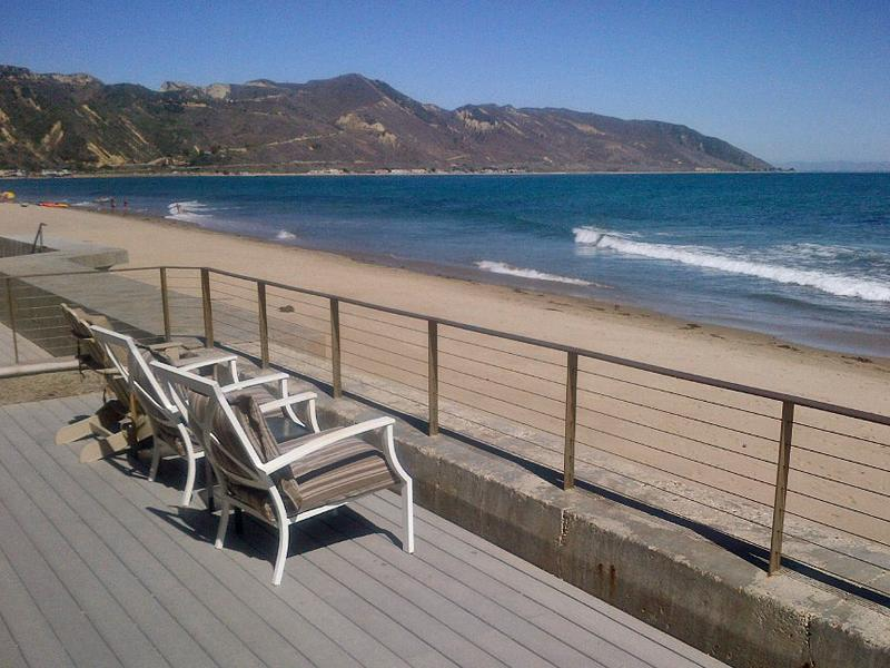 Pull up a chair! - Ocean Front House Faria Beach, near Santa Barbara - Ventura - rentals