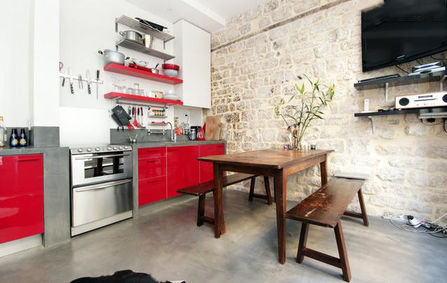 fully-equipped kitchen and large dining table. - Stylish and unique, right in the centre of Paris. - 2nd Arrondissement Bourse - rentals