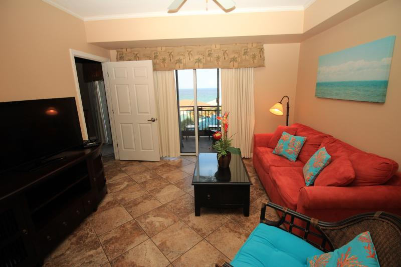 Gulf view from living room - 5th floor. Great views. September $169/n  5- 2 bedrooms available! - Destin - rentals