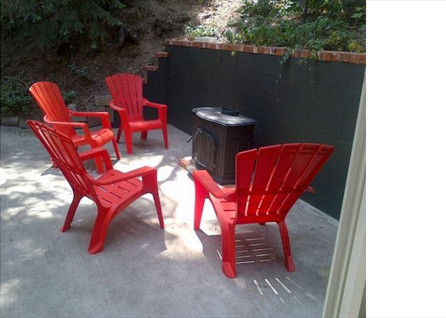 "Outdoor Seating w/ Fire - ""Antler's Lodge"" ALovely home near Lake Gregory & Lake Arrowhead Antler Lodge - Twin Peaks - rentals"