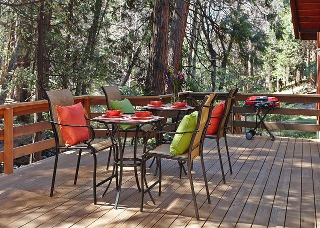 Patio deck - Creekside Lodge Idyllic Masterpeice With Large Deck On Strawberry Creek! - Idyllwild - rentals