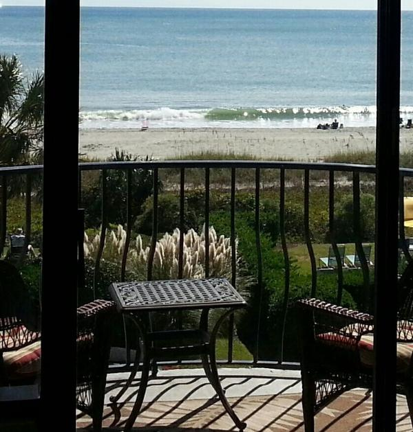 Balcony view to beachfront - Palms Resort One Bedroom Oceanfront (sleeps four) - Myrtle Beach - rentals