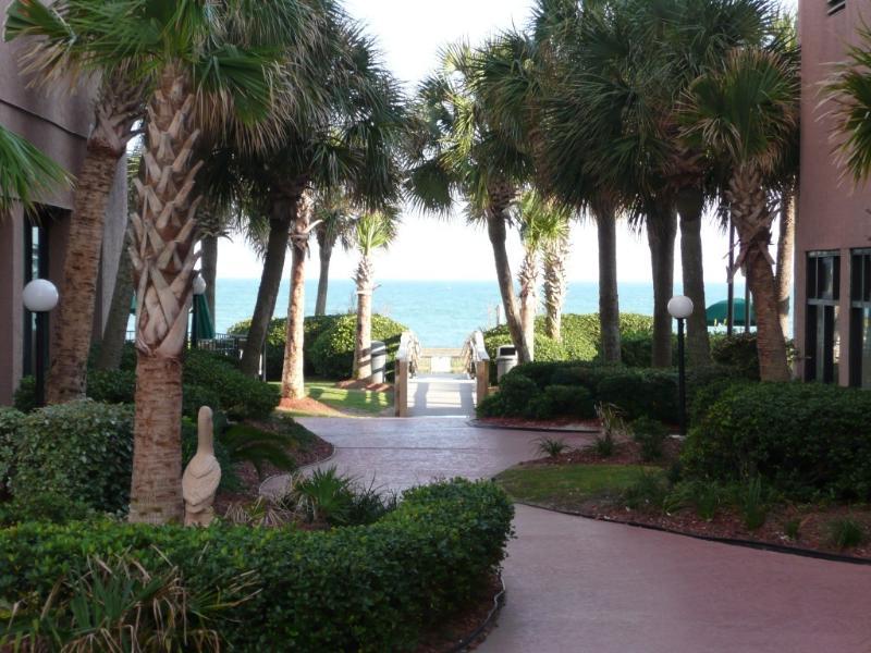 The Palms resort grounds - Palms Resort One Bedroom Oceanfront (sleeps four) - Myrtle Beach - rentals