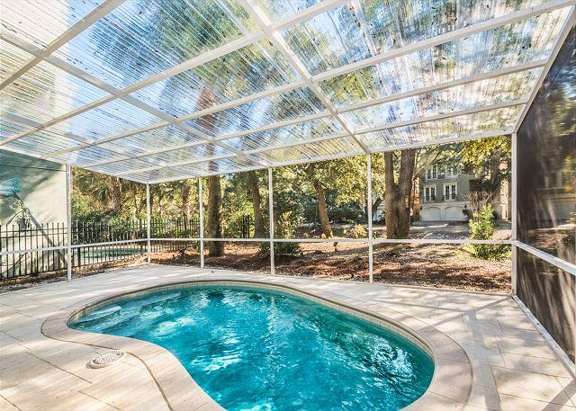 Henry Lane 11, 4 Bedroom, Screened in Private Pool, Walk to Beach, Sleeps 14 - Image 1 - Hilton Head - rentals