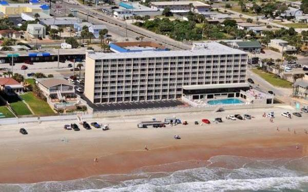 A view from the ocean.  G17 is near pool and beach access. - Direct Oceanfront Studio Condo Vacation Rental - Daytona Beach - rentals