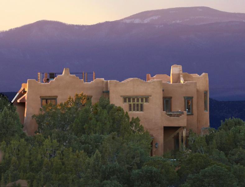 View of Home Looking West - Casa de Música: Luxurious 360º View Artisan Adobe - Santa Fe - rentals