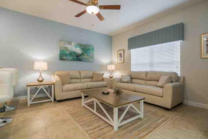 Comfortable Leather Seating in Living Area - 3185 Storey Lake - Kissimmee - rentals
