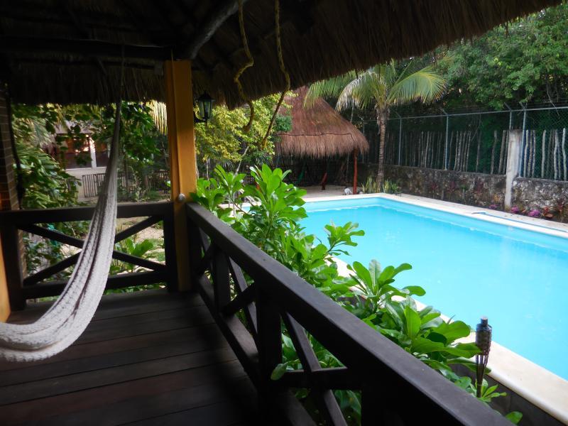 View from lower flat to swimming pool - Villas Nicte Tulum - Tulum - rentals