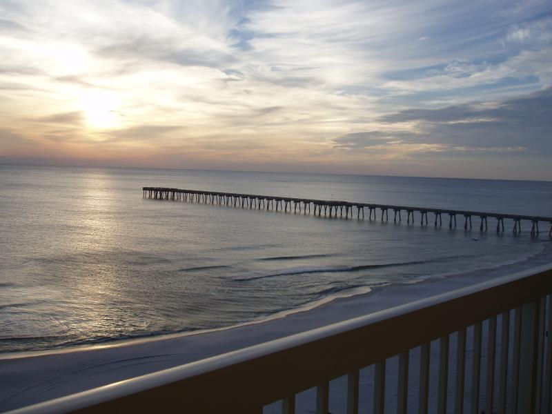 Pier - go fishing or just walk out to the end!  View from our 8th floor balcony - CALYPSO Resort* Gulf-Front * Closest to Pier Park! - Panama City Beach - rentals