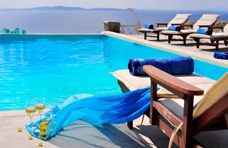 pool area - Blue Villas   Delos View   Sea View, Gym, Pool - Mykonos Town - rentals