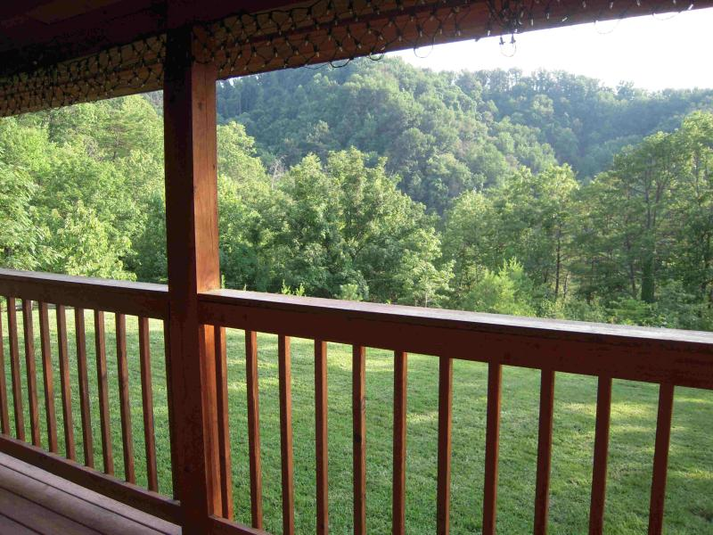 Enjoy the mountain view from the HOT TUB entry porch or the new uncover deck - Amazing Grace how sweet the View! In SHAGBARK - Pigeon Forge - rentals