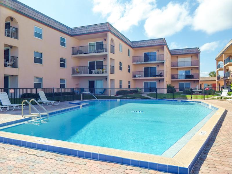 Large Heated Pool/View from Ocean Pool Deck - Luxury Ocean Front Condo/Sleeps 8! - New Smyrna Beach - rentals