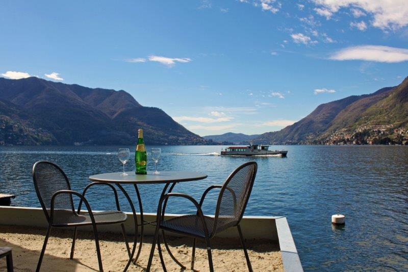 Relax on our sand lido and watch the boats go by - BEACHFRONT -  Villa Vista Lago -  Lakefront Views - Como - rentals