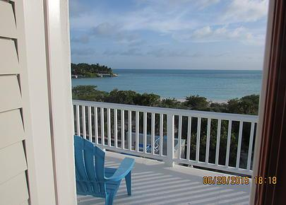 View from upstairs balcony - Beachfront Villa on Taylor Bay in Turks & Caicos - Ocean Point - rentals