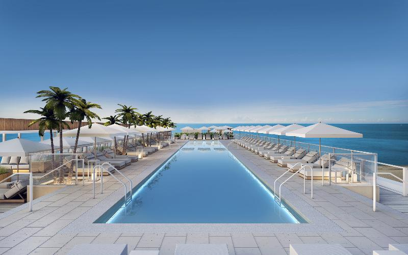 Rooftop Pool Deck - 1 Hotel & Homes South Beach 1 BDR Apartment - Miami Beach - rentals
