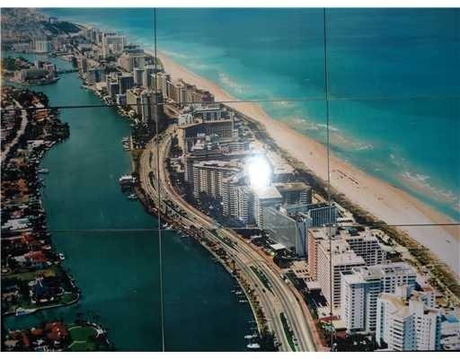 Area view and look that the building is oceanfront - Beach front condo  2/2 Bay & city view - Miami Beach - rentals