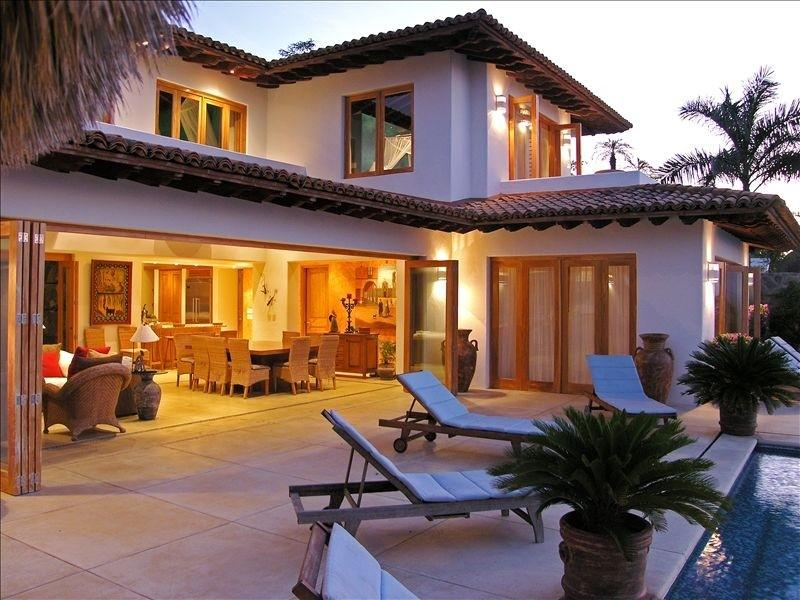 View of the house from the Palapa - Wonderful Private Beach, Personal Chef & Staff - El Aguaje - rentals