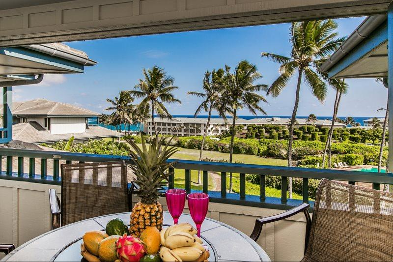 Poipu Sands 225 Only 100 yards from Shipwreck Beach and the Hyatt! 2 bed/2 bath, heated pool! Free car with stays 7 nts or more* - Image 1 - Koloa-Poipu - rentals