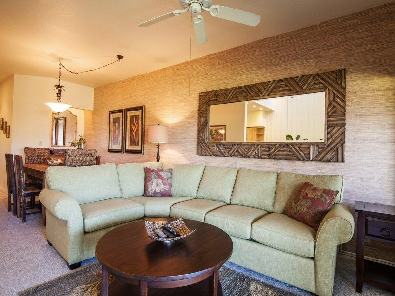 Living Room - FREE mid-size car with Manualoha 608 - Wonderful condo sleeps 6 only OV Pool. - Koloa - rentals