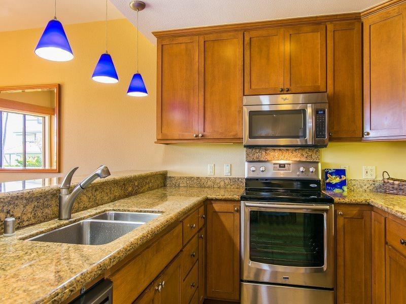 Kitchen - Poipu Sands 214 Lovely 2bd/2bth with 2 king beds. FREE mid-size car. - Koloa - rentals