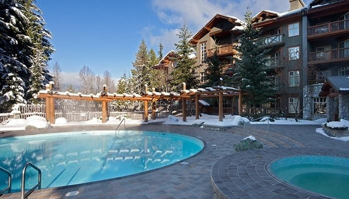 After skiing or golfing, soak in the outdoor hot tub or heated pool.  - Whistler Lost Lake Lodge Beautiful 1 Bedroom Condo - Whistler - rentals