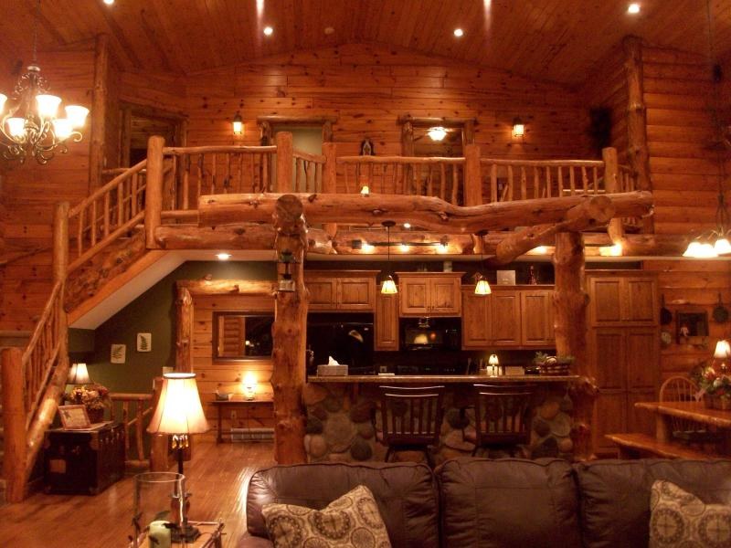 Living room ..Entry - Rustic Lodge ( not on a lake) - Shell Lake - rentals