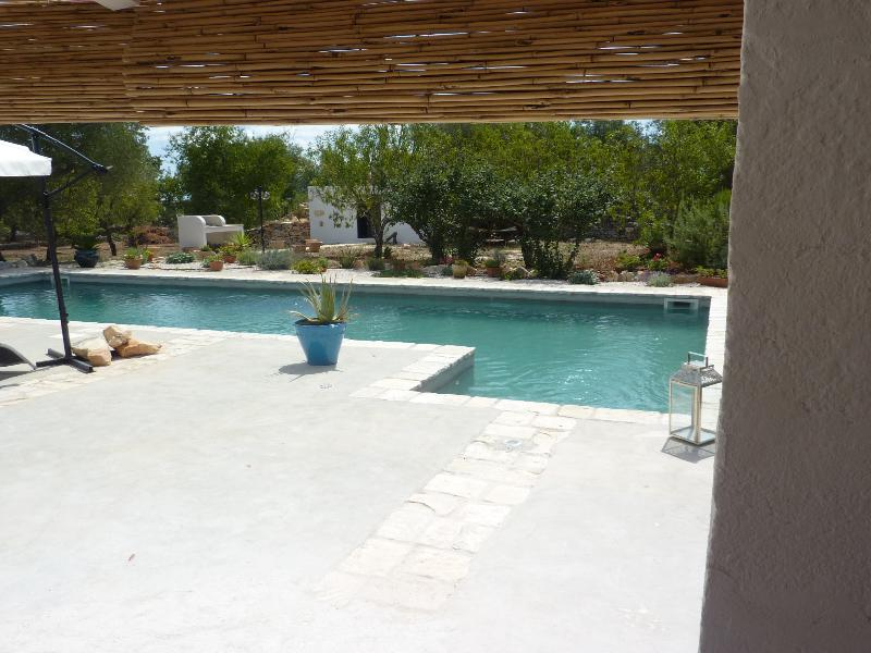 Swimming pool and gazebo back of the property - Trullo Luce make a great experience - Ostuni - rentals